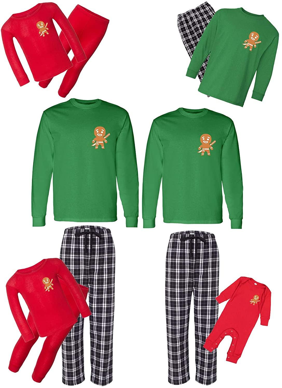 Awkward Styles Christmas Matching Pajamas Set Funny Gingerbread Family Sleepwear
