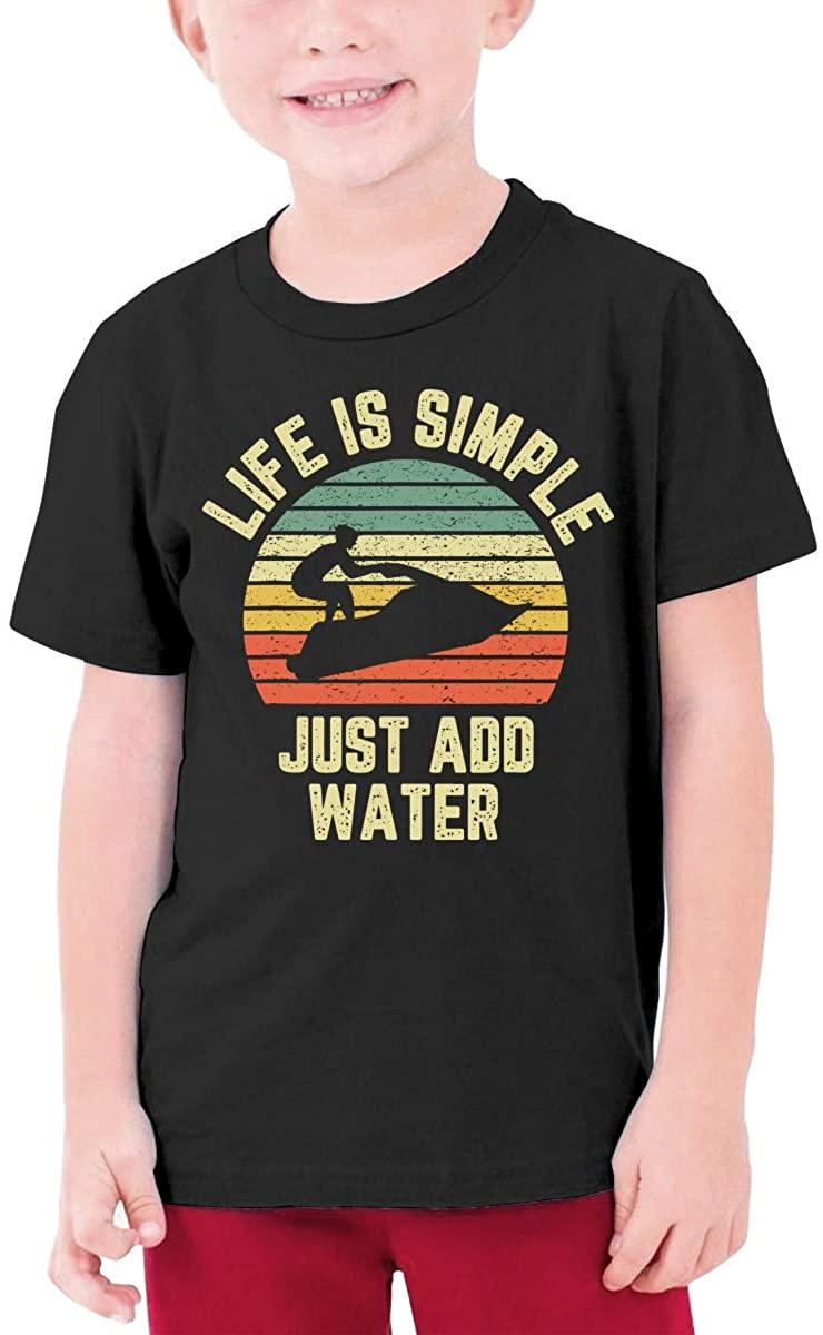 Jet Ski Boys' T-Shirts, Youth Novel Tops, Fashionable Youth T-Shirts, Children/Girls/Boys Round Neck T-Shirts