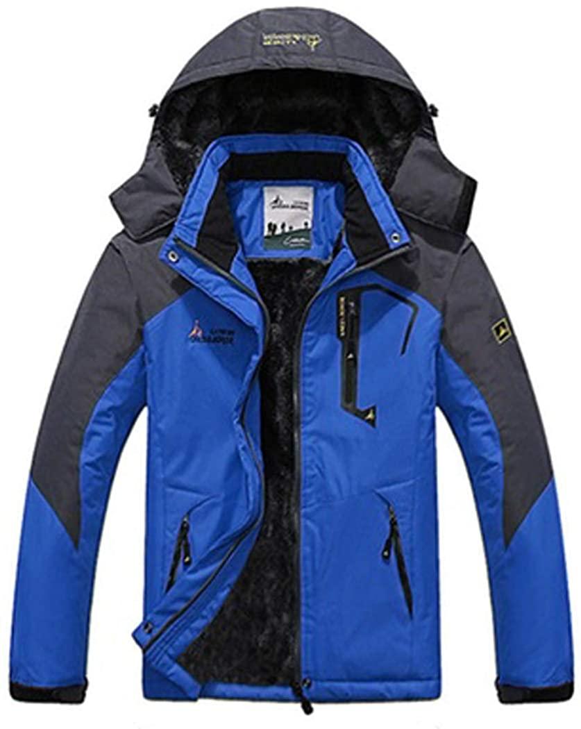 CathyMarket Men's Heavy Insulated Parka Mountain Jacket
