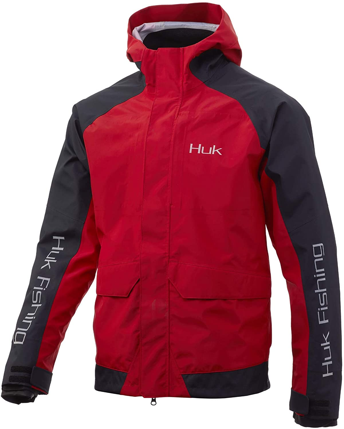 HUK mens Tournament Jacket | Wind Proof & Water Proof Rain Jacket - 20k/15k Wind & Water Proof Rating