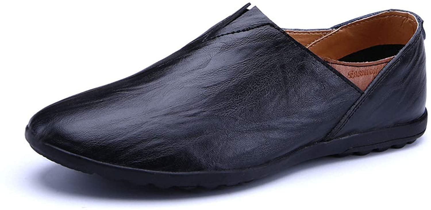 Genuine Leather Men Casual Shoes Luxury Italian Mens Loafers Breathable Driving Shoes Slip On Comfy Moccasins