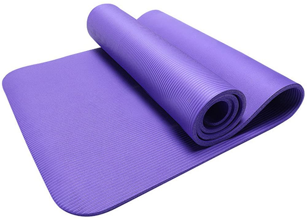 ZAU 10MM Thick Durable Yoga Mat Non-Slip Exercise Fitness Pad Mat Lose Weight Home Gym Crossfit Out Physical Therapy