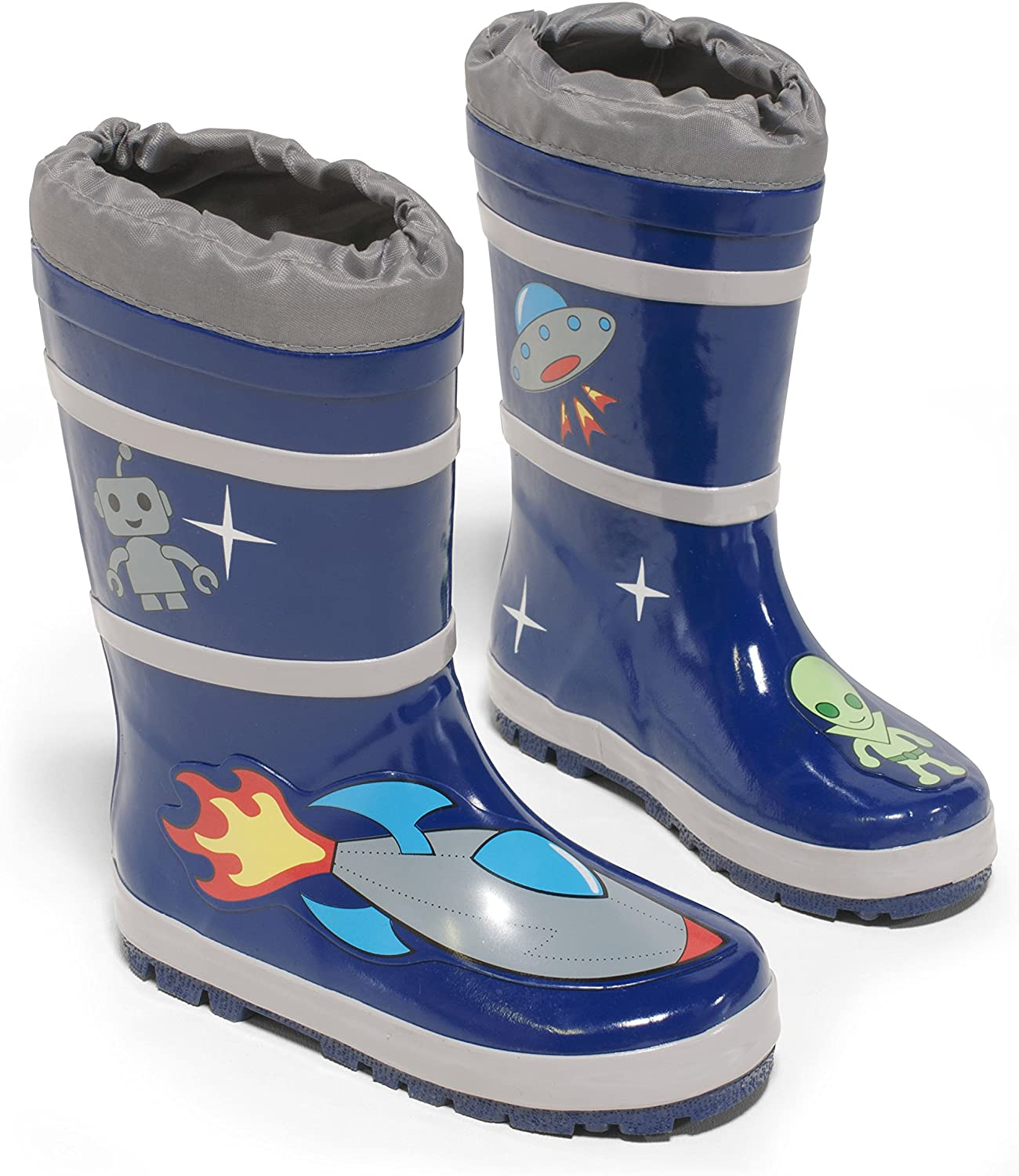Kidorable Blue Space Hero Natural Rubber Rain Boots