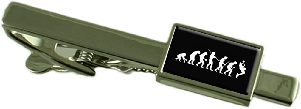 Select Gifts Evolution Ape to Man Basketball Tie Clip Engraved Personalised Box