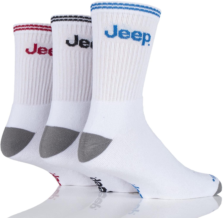 Mens 3 Pair Jeep Classic Cotton Sports Socks