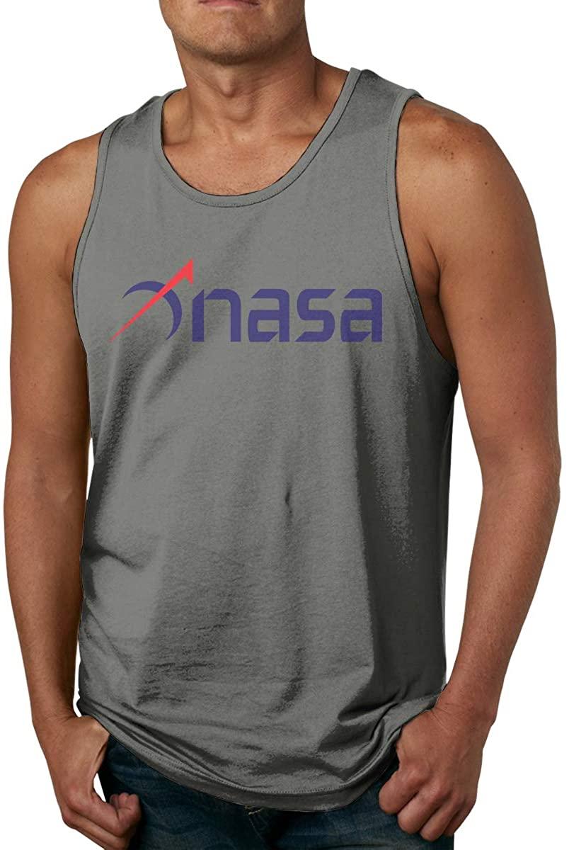 Gjfauehf Man's NASA Men's Cotton Sports Vest, Worn Outside Or Inside