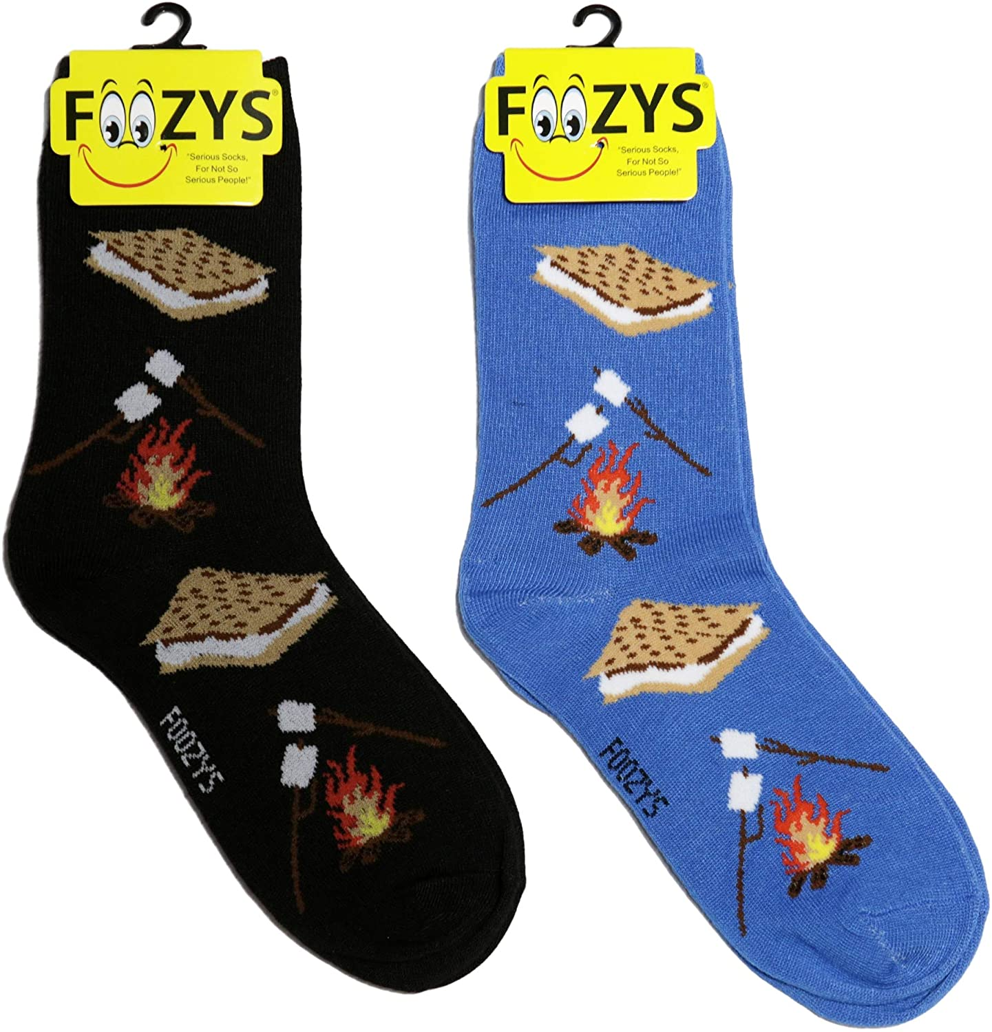 Foozys Women's Crew Socks | Cute Sweet Treats Themed Novelty Socks | 2 Pair