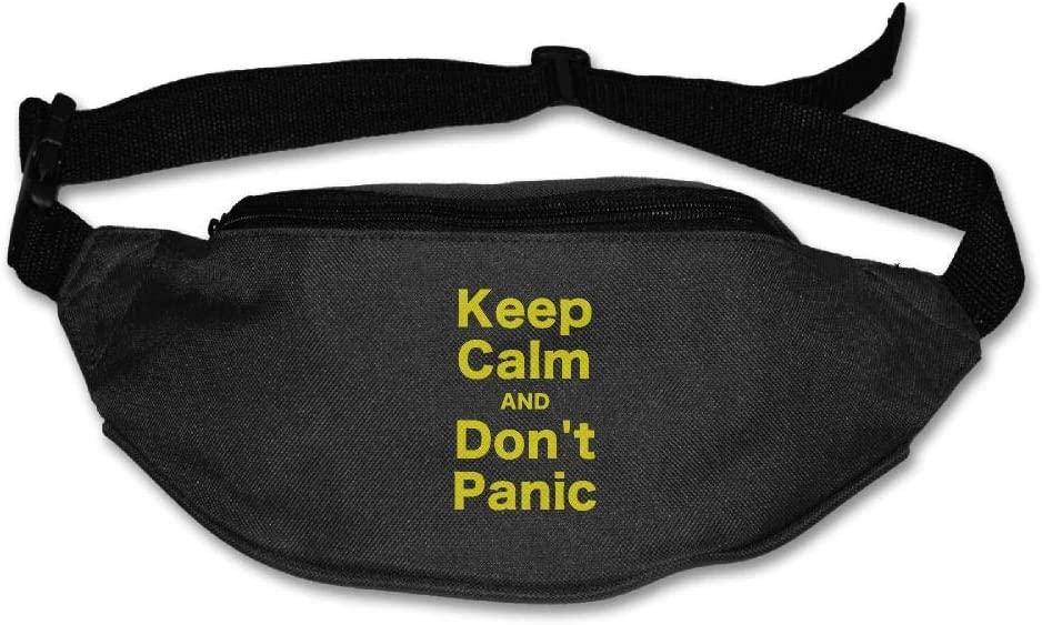 Eden Edies Keep Calm and Dont Panic Unisex Waist Pack Bag Belt