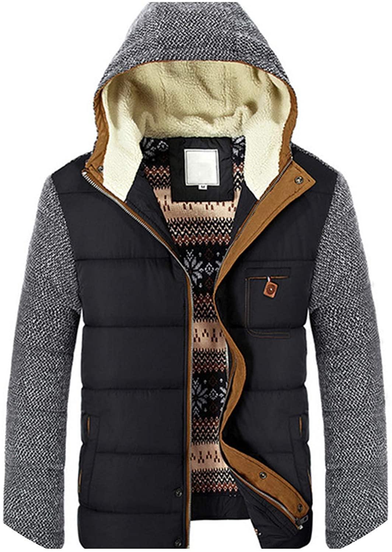 Winter Coat Mens Warm Parkas Thick Cotton Coats Slim Male Jackets Hooded Coat Mens SA830