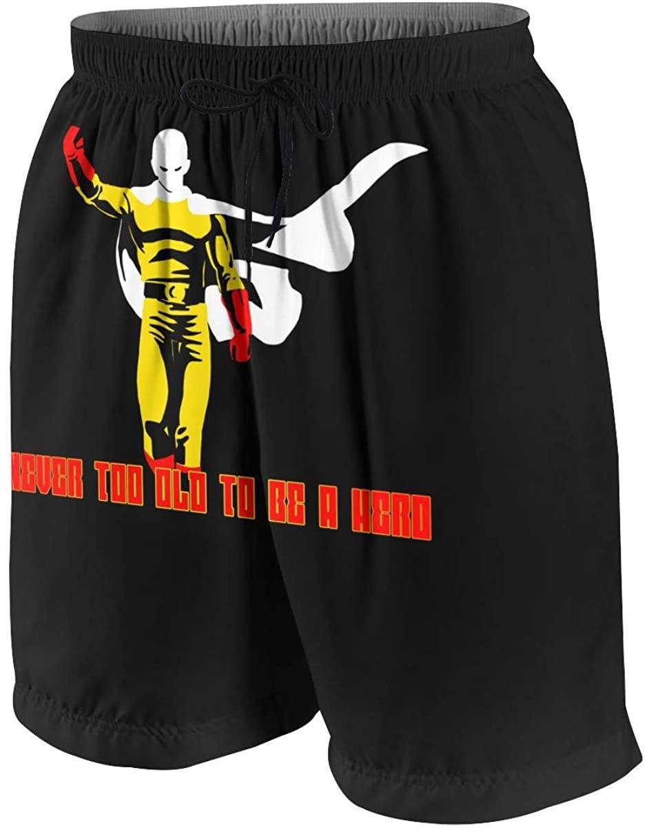 Teen Beach Shorts Boy Swim Trunks One Punch Man Ok Saitama Swimwear Boardshorts