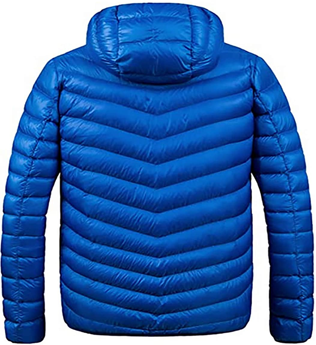 iphonepassteCK Men's Hooded Down Jacket Blue S