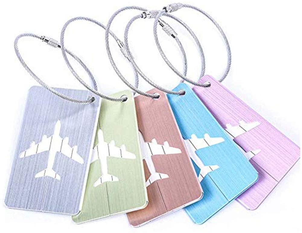 Luggage Tags Aluminium Alloy Luggage Tag Luggage Suitcase Hanging Tag Business Hanging Tag Wire Drawing Luggage Accessories