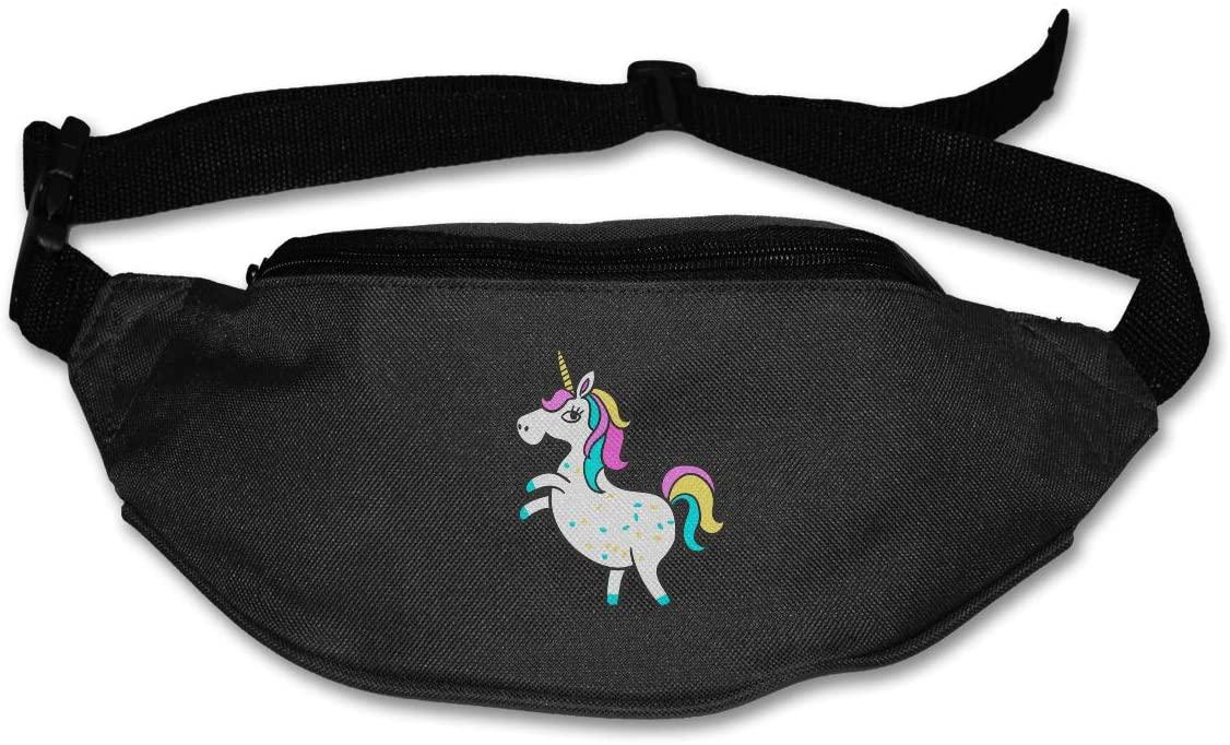 SWEET-YZ Unisex Waist Pack Unicorn Flat Fanny Bag Pack for Sport Running