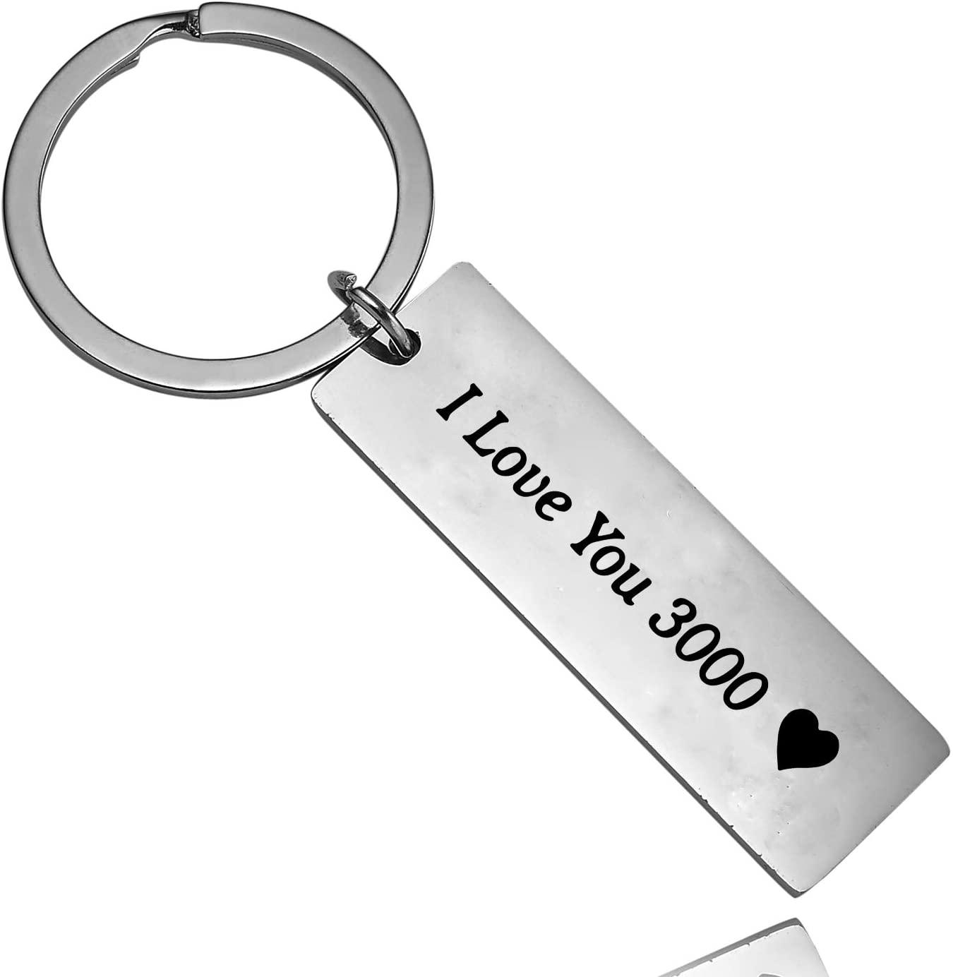 BESPMOSP I Love You 3000 Keychain Inspired Keychain Gift for Fans, Mom, Dad, Husband, Boyfriend Best Friend Gift (I Love You 3000)