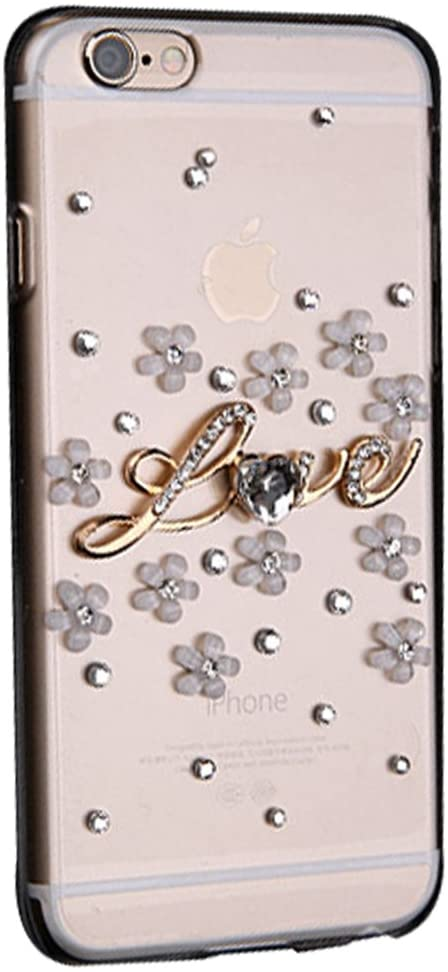 STENES Google Pixel 2 Case - 3D Handmade Luxury Series Crystal Small Pretty Flowers LOVE Sparkle Rhinestone Cover Bling Case For Google Pixel 2 With Retro Bowknot Dust Plug - Light Purple