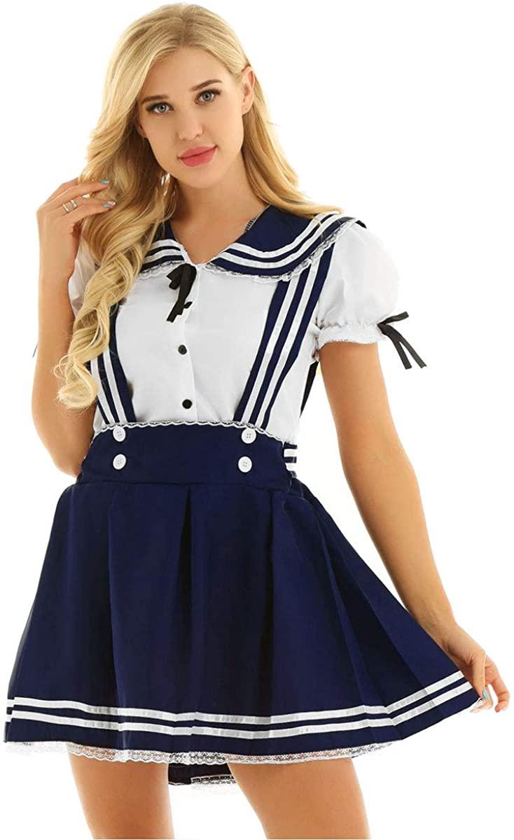 CHICTRY Women Lingerie Japanese Anime Clothes School Uniform Sailor Suit Cosplay Costume