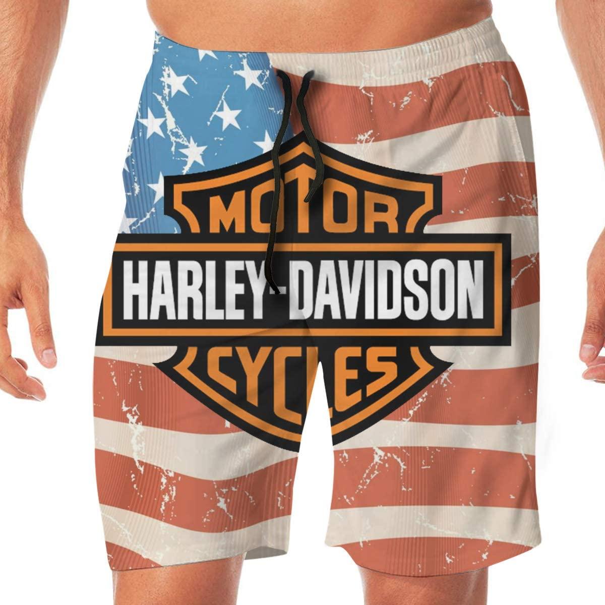 Men's Harley Davidson Bathing Suits Beach Swim Pants Beach Sports Shorts Swimsuit