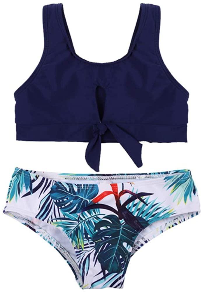 Family Swimwear Two Pieces Family Matching Swimwear Bikini Set Mother Father Boys Girls Bathing Suit Blue