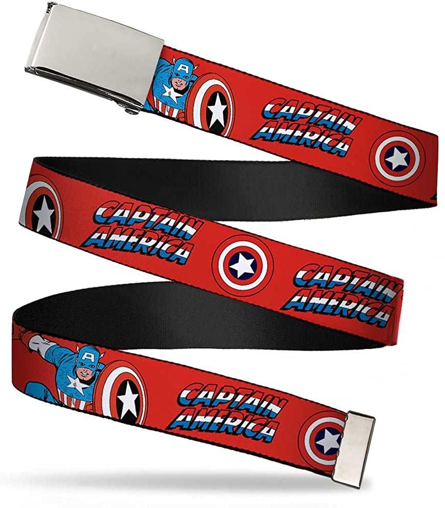 Buckle-Down Web Belt Captain America 1.25