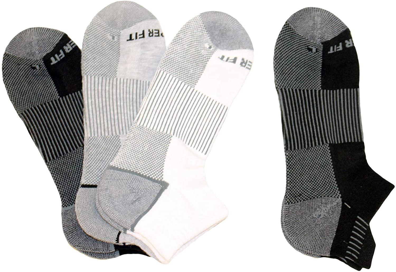 Copper Fit Men's Performance Sport Cushion Low Cut Socks (4 pair) Shoe Size 6-12
