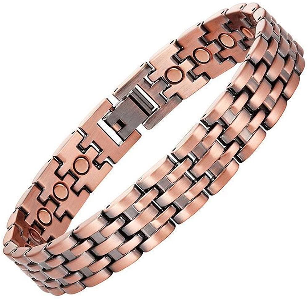Copper Link Magnetic Bracelet for Men Pisa ProExl Box