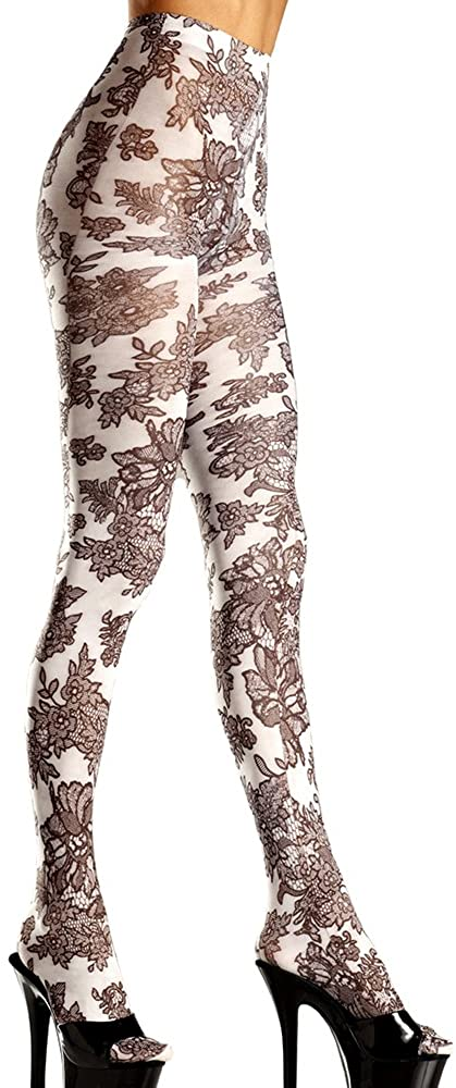 Be Wicked Women's Floral Print Tights