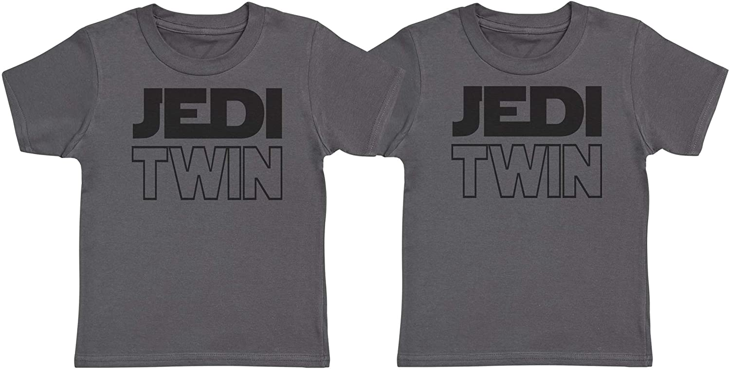 Zarlivia Clothing Jedi Twins Twin Kids T-Shirts, Twin Kids Tee, Twin Kids Tshirts