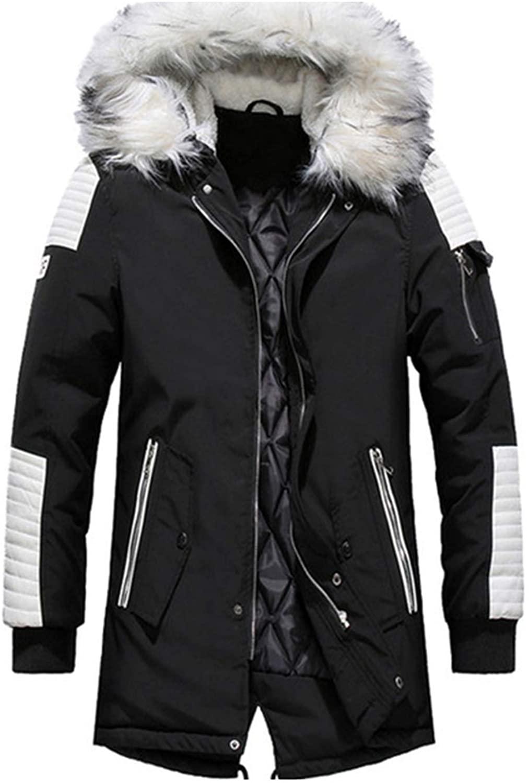 Winter Men's Coat Fur Hooded Long Cotton Jacket Male Casual Fashion Thick Warm Coats Men SA611