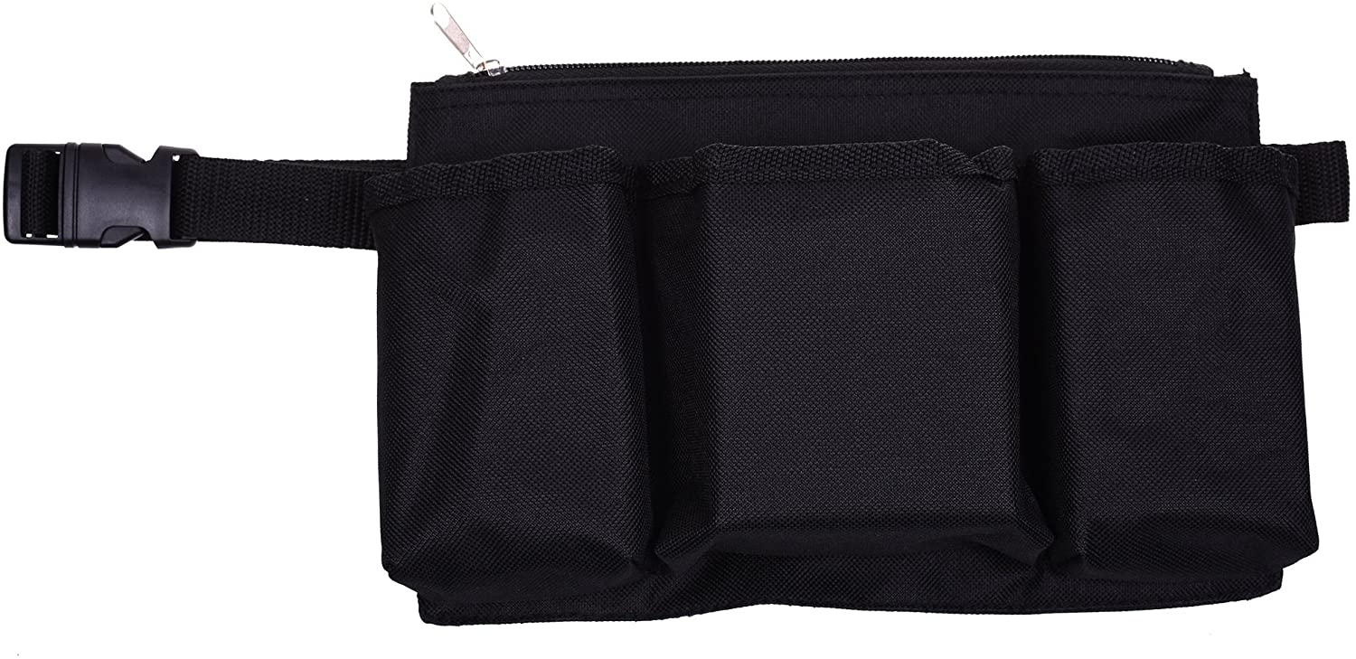 COSMOS Black Color Utility Waist Apron with Adjustable Waist Strap