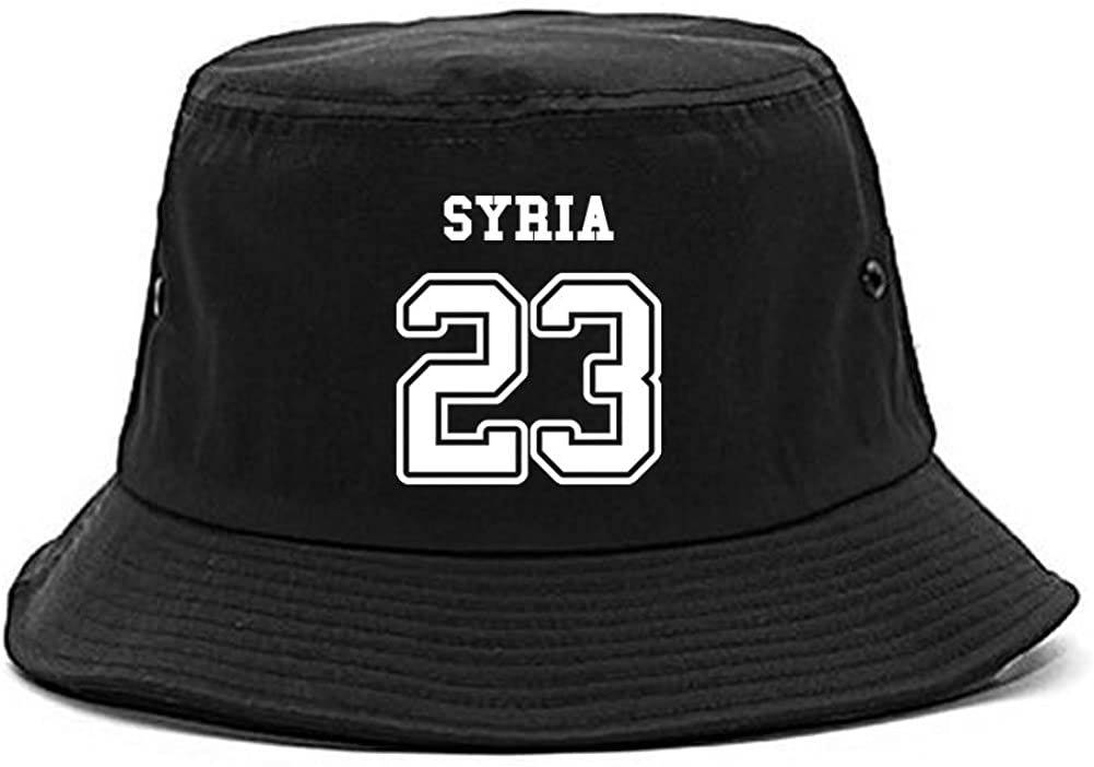 Country of Syria 23 Team Sport Style Jersey Bucket Hat