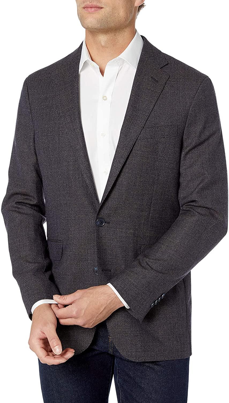 Cole Haan Men's Slim Fit Blazer, Blue tic, 38S