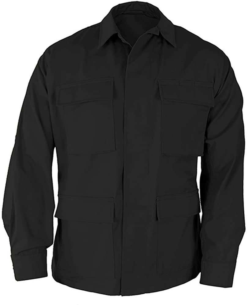 Propper Uniform BDU Coat Regular Length 60/40 Cotton/Polyester Ripstop Black XLR
