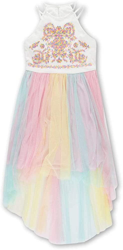 Speechless Girls' Big Long Pleated Dress