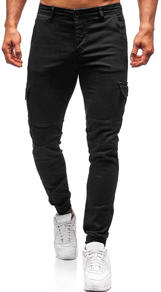 Mens Joggers Casual Slim Fit Skinny Business Formal Suit Dress Pants Bottom Tapered Sweatpants Track Pants