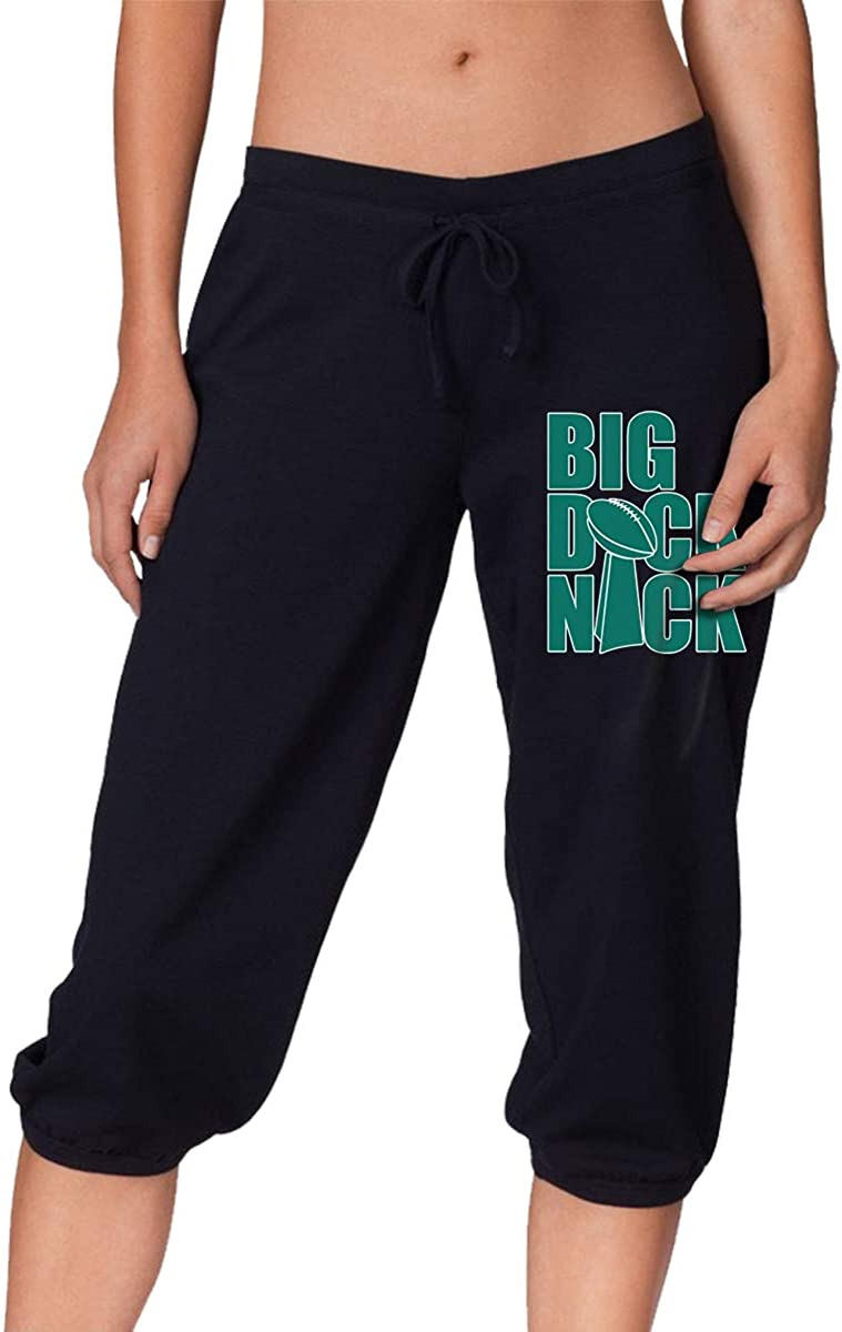 Flying Eagles Team Quarterback Football Nick Foles Women's Casual Sports Cropped Trousers