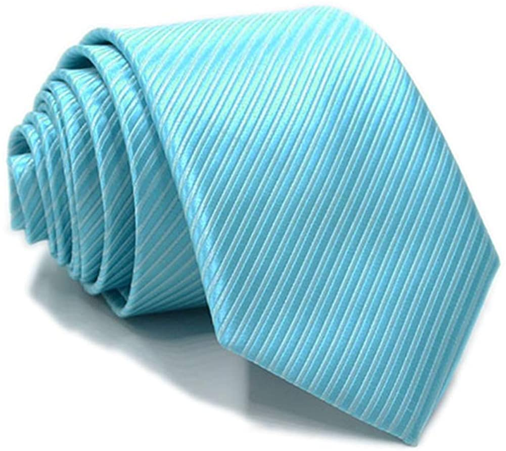 Elfeves Mens Boy Skinny Ties Fine Stripe Designer Formal Business Suit Necktie