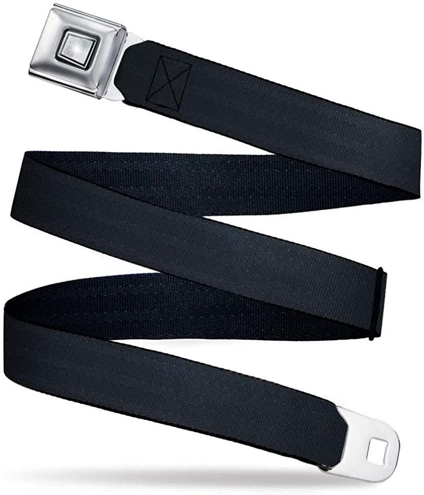Buckle-Down Belt Seatbelt Buckle Black Panel Mens Womens Kids Adjustable