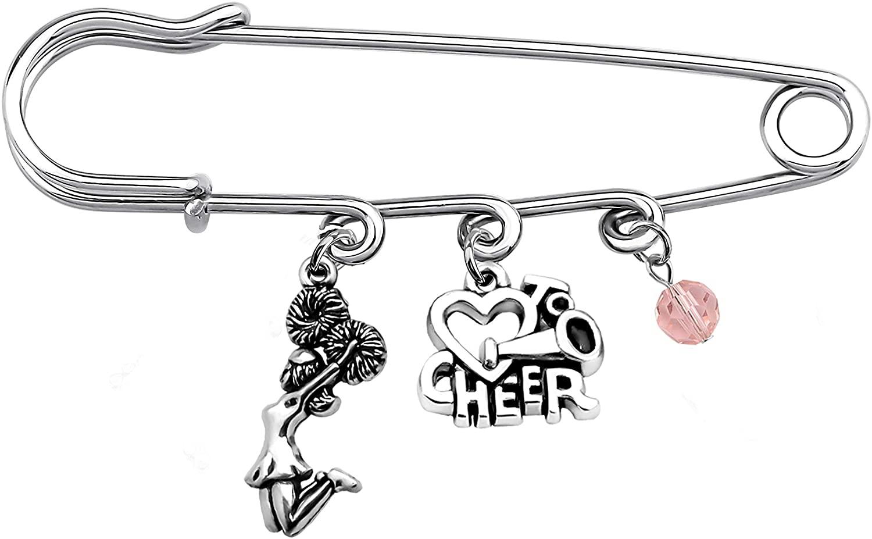 FAADBUK Cheer Gift Cheerleader Brooch Cheer Brooch Cheerleading Jewelry Cheer Team Gift Cheer Coach Gift Girls Gift