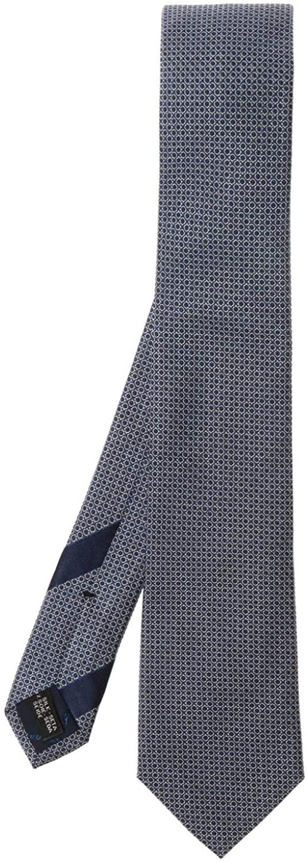 Salvatore Ferragamo Mens Blue Silk Gancini Silk Neck Tie