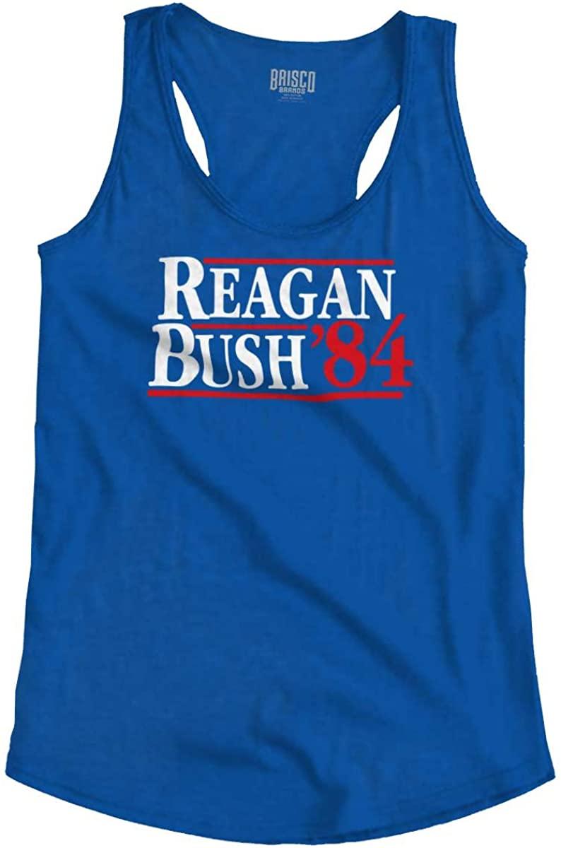 Ronald Reagan George Bush 84 Election POTUS Racerback Tank Top