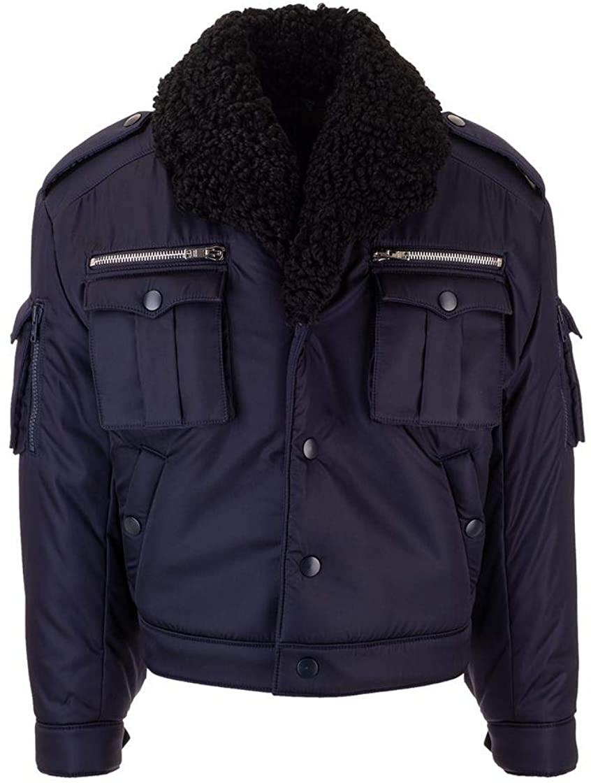 Prada Luxury Fashion Man SGB193S192I18F0124 Blue Polyamide Outerwear Jacket | Fall Winter 19