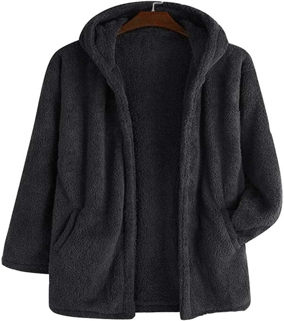Colygamala Men's Fleece Hoodie Lightweight Jacket Faux Warm Cardigan Winter Coat with Pockets