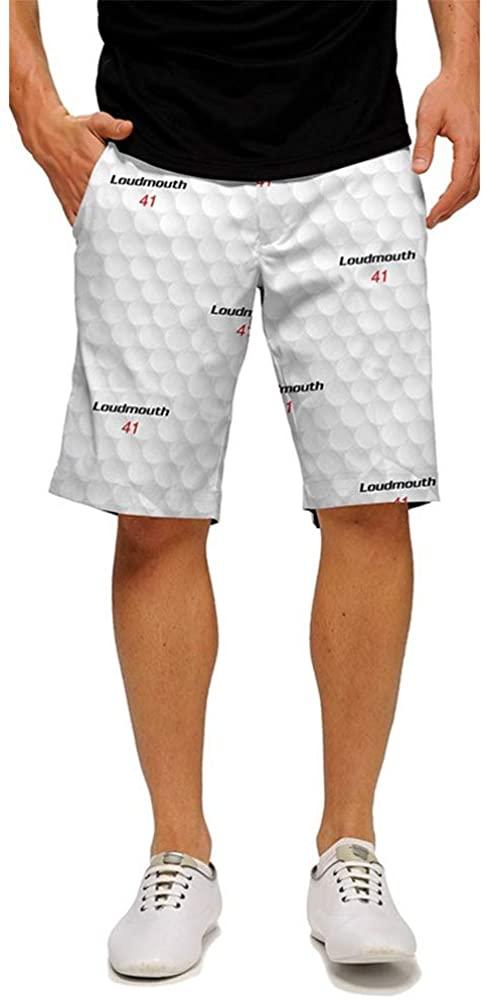 Loudmouth Golf - 100% StretchTech Poly - John Daly Fun Big Golf Ball Men's Short - Knee Length, 11