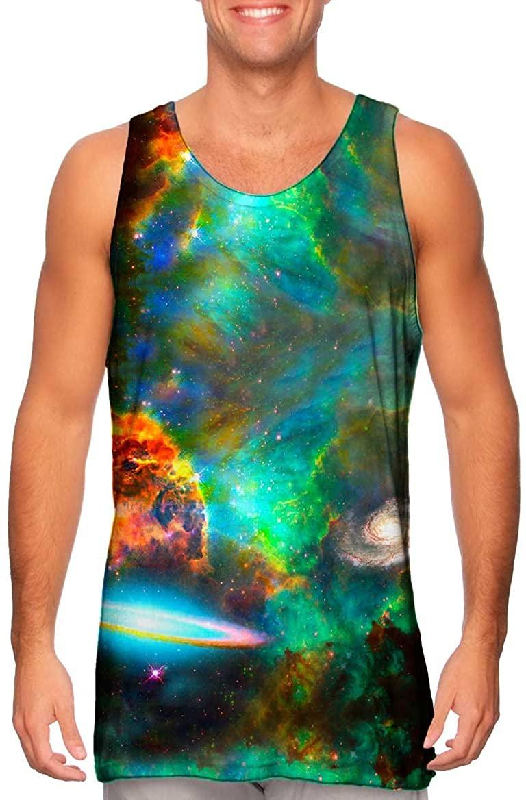 Yizzam- Deep Space Galaxy -Tshirt- Mens Tank Top