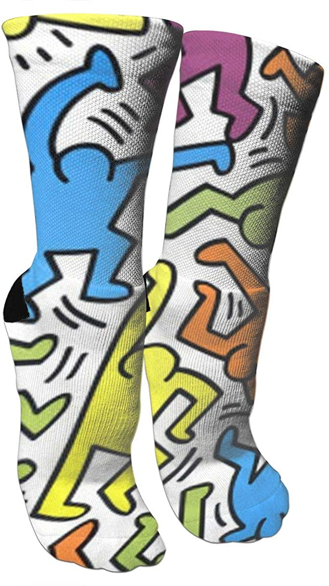 Crew Socks Cool Graffiti Art Novelty Crazy Funny Travel Athletic Running Printed Casual Socks Length 15.7