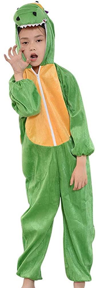 MISWSU Kids Dinosaur Onesie Animal Pajamas Costume Cosplay Dinosaur Jumpsuit for Kids Toddlers Party Fancy Dress