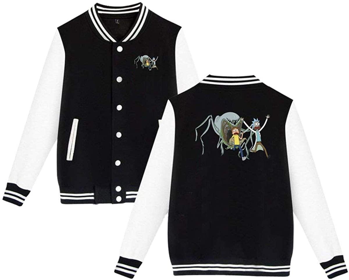 SBGBN Rick N Morty Men's Letterman Jacket Sweater Coat