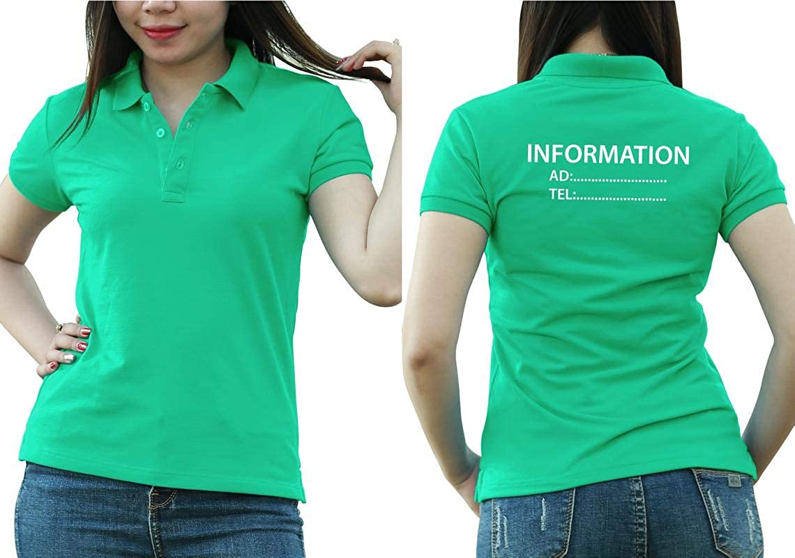 Add Custom Personalize Your Logo Text. Print On Polo & T-Shirt with Multi Sides –Sizes - Colors. Pack of 10 Turquoise