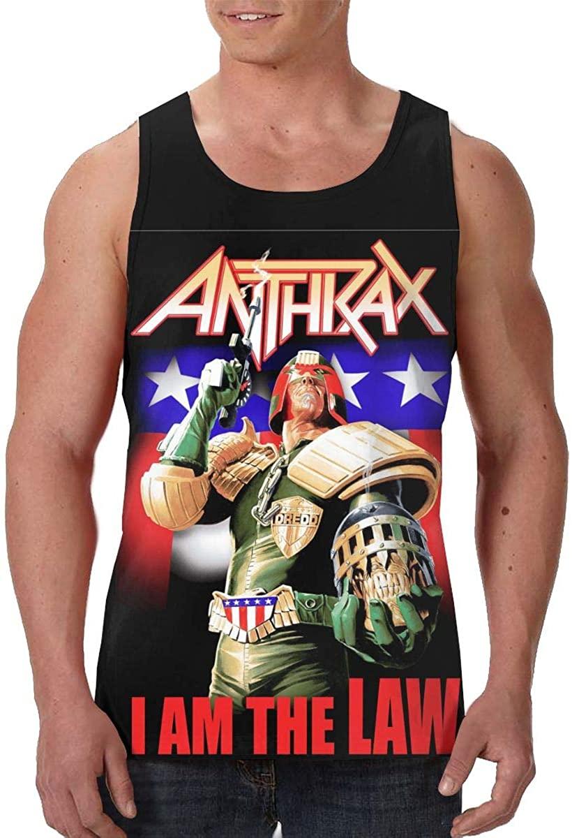 Anthrax Dredd Eagle Trendy Mens Premium Vest