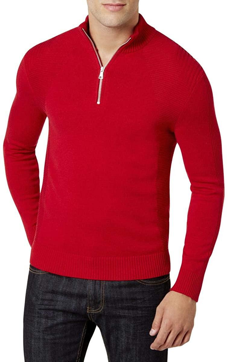 I-N-C Mens Quzrter Zip Pullover Sweater